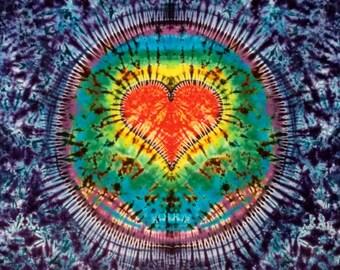 Tie Dye Heart Tapestry!
