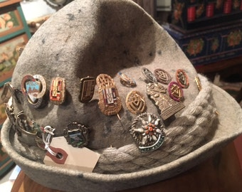 Vintage Bavarian Hat with 30 Pins
