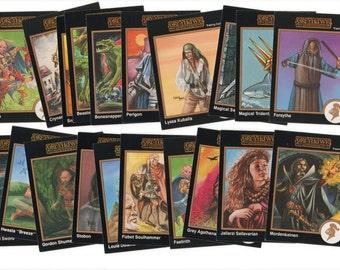 200+ Greyhawk Adventures Trading Cards, 1992