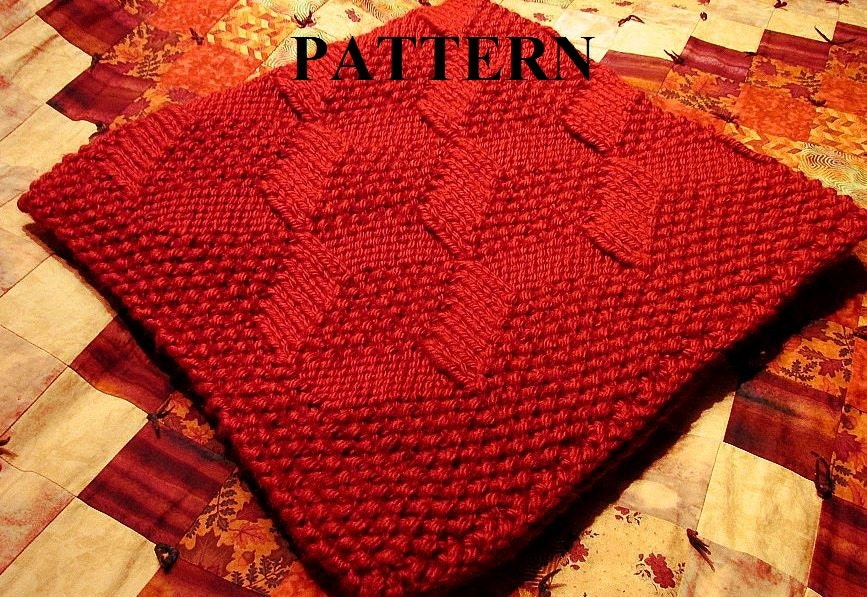 Knit Baby Blanket Pattern Chunky Yarn Baby Blanket Pattern