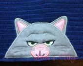Great Pet Cat peeker Hooded Towel In the hoop design digital instant download