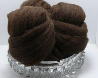 Fire Sale!  Mill oopsie on clearance!  Deep chocolate brown merino for felting