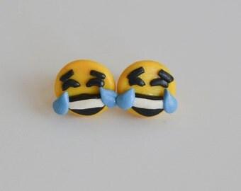 Laughing Face Emojii Earrings