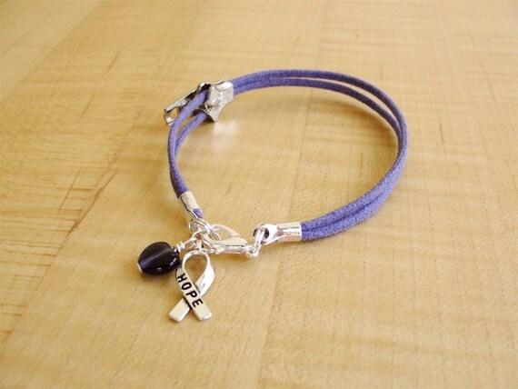 Chiari Awareness Bracelet with Zipper charm -  Arnold-Chiari Malformation