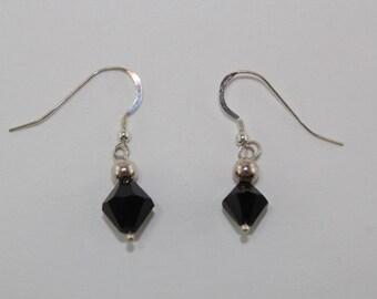 Garnet crystal drop earrings