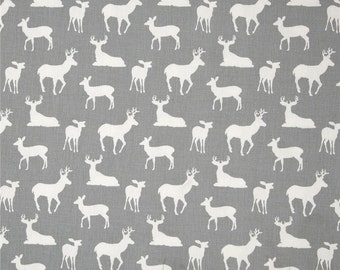 Gray Deer Crib Skirt
