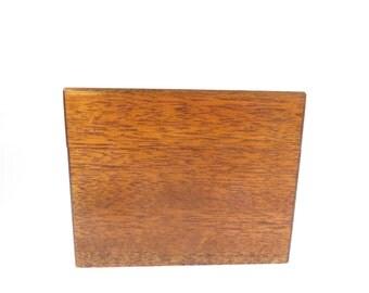 Vintage Oak Recipe Box -   Medium Oak Wood Box