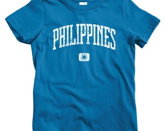 Kids Philippines T-shirt - Baby, Toddler, and Youth Sizes - Filipino Tee, Pilipinas, Manila, Quezon City, Cebu - 4 Colors