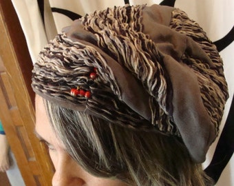 1930's GRAY SLOUCH BERET hat vintage 30's 40's