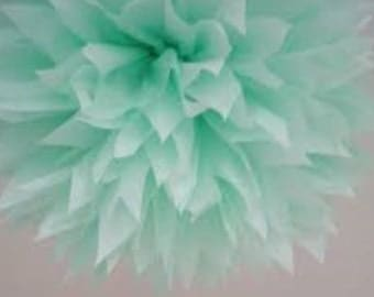 Tissue Paper pom pom/hanging paper ball/paper pomander/Tissue Paper Flower Cool Mint or the color of your choice