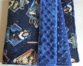 "Star Wars Baby Blanket - Security Blanket 19""X23"" - Lovey - Star Wars Baby Girl Or Baby Boy Blanket - Geek Baby - Nursery - Baby Shower Gift"