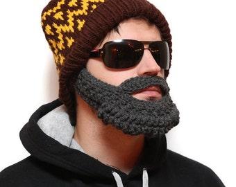 Beard beanie - Beard Hat, beard head, beard winter, beardhead, hats with beards, knitted beard, crochet beard hat, beanie with beard
