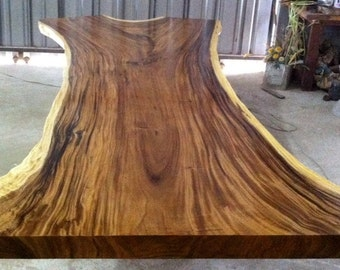 Live Edge Dining Or Conference Table Acacia Wood Live Edge Reclaimed Solid Slab Rare Size