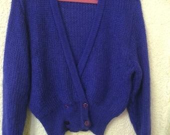 Purple Mohair Cardigan