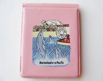 Vintage 50s Marineland of the Pacific Pink Vinyl Souvenir Note Pad