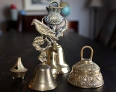 ASTROLOGICAL signs antique BELL lot made in England BRASS astrology bell