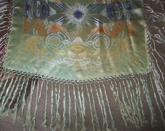 """Traditional Antique  Shawl...Excellent Condition...32"""" square ...Plus 10"""" Fringe...FREE SHIPPING"""