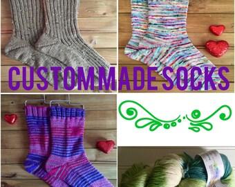 Handknit Socks - Wool/Alpaca/Nylon