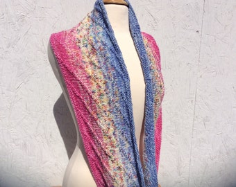 "KIT - ""New Directions"" Infinity Scarf Kit - periwinkle/bubble gum pink version"