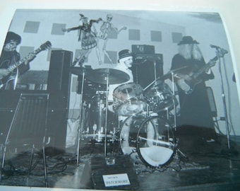 Vintage Snapshot Photo - Halloween Band - Costumes - Party