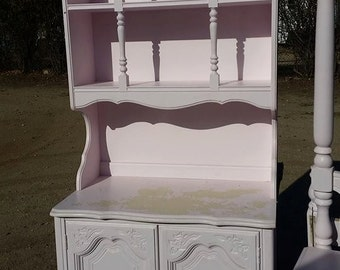 Custom Order Color on Girls Bedroom 1 Shelf Cabinet With Hutch