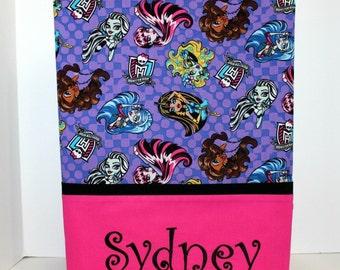 Monster High Pillowcase, girls pillowcase, Twin pillowcase, standard pillowcase