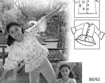 Tomke Girls Blouse Pattern Craft Book DIY