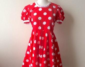 Vintage Minnie Mouse Polka Dot Dress