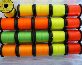 Uni-Neon/Thread.....20 Spool Combo..... 1/0... 2 Ply...In Assorted Colors..........