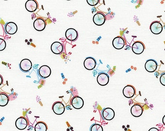 SALE Timeless Treasures Bicycles Tossed- one yard increments