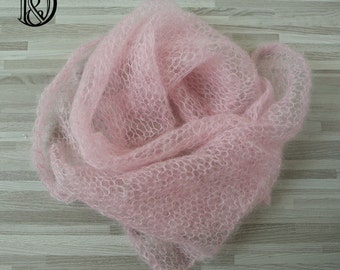 60x30cm Handknit Real Soft Little Mohair Wraps Newborn Photography Props Baby Photo Wraps