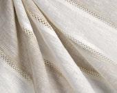 Custom Window Treatments - Roman Shades, Valances, and  draperies - tan and cream linen
