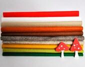 Wool Felt Sheets - 10 pieces - 'Woodland Wander' collection - 100% wool felt