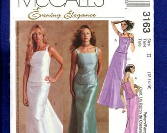 McCalls 3163 Evening Elegance Tops & Full Length Skirts  Sizes 12  14
