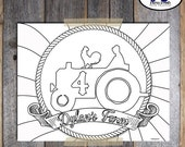 Farm Party Coloring Sheet | Farm Coloring Sheet | Barnyard Birthday Party Coloring Sheet | Tractor Coloring Page | Farm Game | Printable