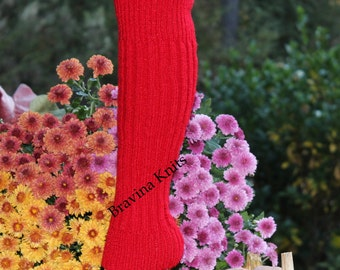 Child Sweater Knit Leg Warmers Red