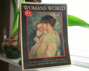 1932 Woman's World Magazine Vintage Art Deco Fashion February Issue 1930s