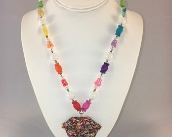 Candy Kisses Statement Resin Necklace