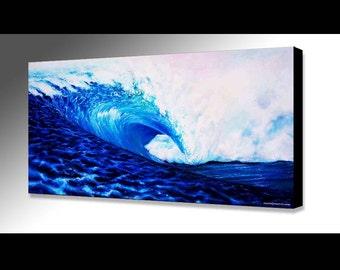Wave Painting | Hawaii Painting | Ocean Painting | Waves | Hawaiian Decor | Water Print |  Surf Decor | Surf Art | Ocean Art | Sea Painting