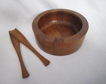 Vintage Dansk Bowl and Tongs