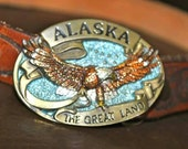 Vintage Alaskan Belt Buckle and Belt