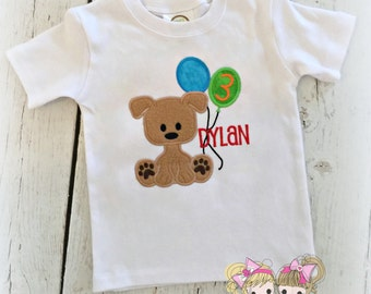 Boys Puppy Birthday shirt - Boys first birthday shirt - puppy birthday outfit - puppy party birthday - puppy dog theme birthday
