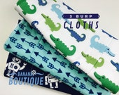 Melissa's CUSTOM LISTING Burps Cloths You Pick 4 Boys cotton prints and choose the backing material. The Most Absorbent Burp Cloths Triple
