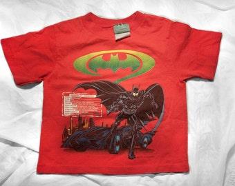 90s Batman Forever kids shirt - Vintage childrens movie tshirt - Youth DC Comics tee