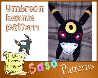PATTERN - Umbreon crochet beanie - PDF