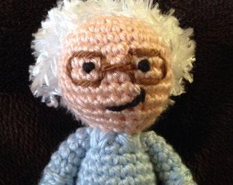 CROCHET PATTERN - Bernie Sanders crochet doll pattern feel the bern
