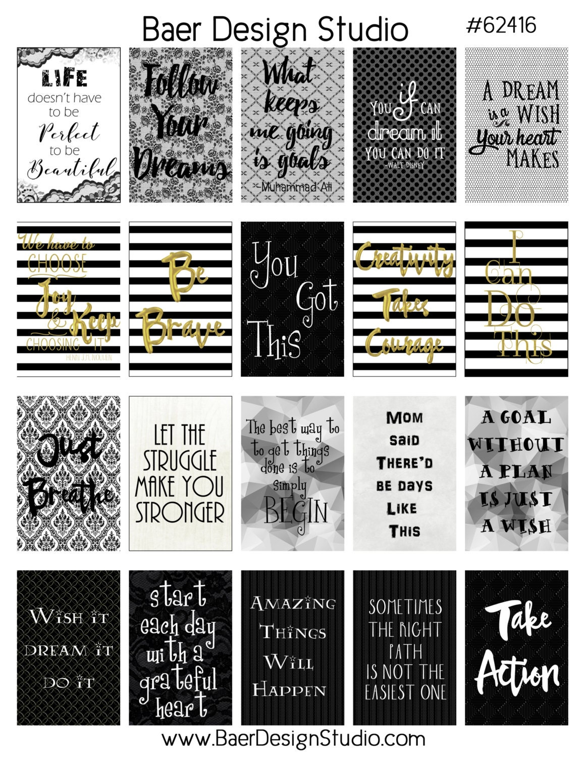 printable planner sticker digital quotes planner quote stickers this is a digital file