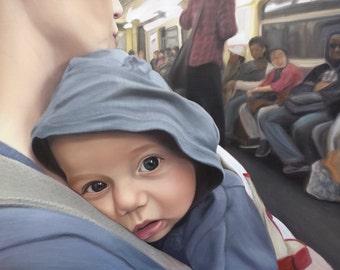 CUSTOM PORTRAIT - Custom Painting - Photo to Painting - Oil Painting Baby Portrait