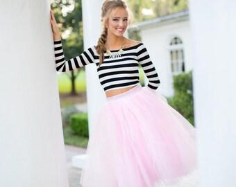 Blush pink  tulle skirt, tutu skirt,