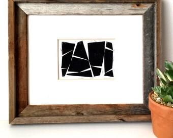 Minimalist Abstract Shapes - Modern Art - Minimalist Art - Wall Art - Linocut Block Print - Original or Digital Print